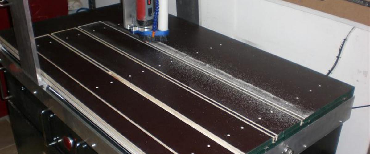Aluminum T-track clamping