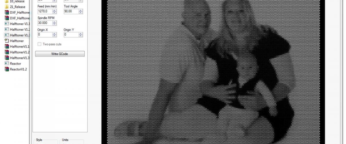 Halftone foto is Plexiglas