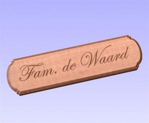 Cedar naambord (1)