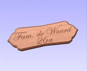 Cedar naambord (3)