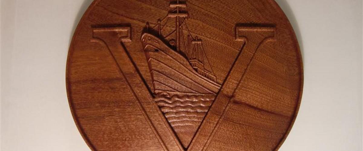 Een origineel pensioen geschenk van hout.