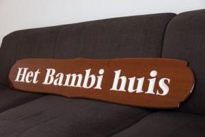 Naambord het Bambi huis (1)