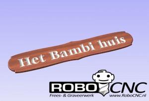 Naambord het Bambi huis (3)