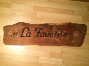Naambord oud hout (4)