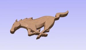 Mustang Logo 3D Model (2)