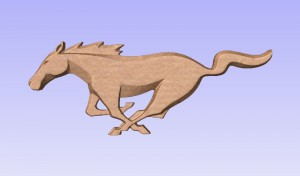 Mustang Logo 3D Model (3)