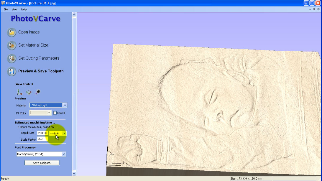 Photovcarve convert a photograph to cnc relief robocnc
